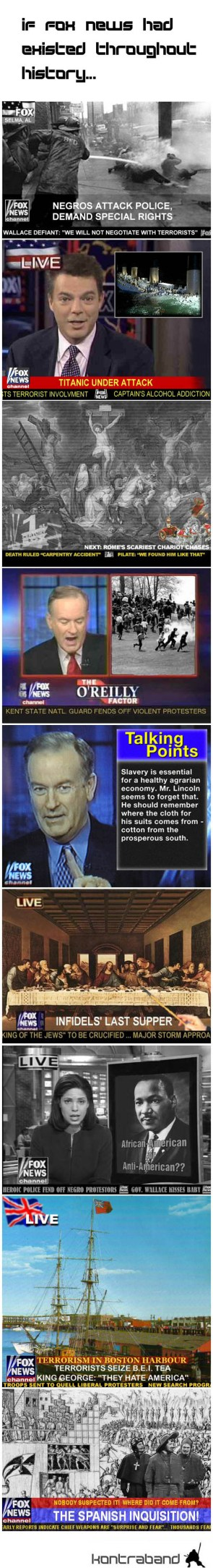 If Fox News had existed throughout history…