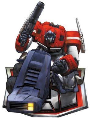 Optimus Prime On His Knee