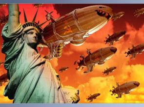 Communist Blimps Over Statue of Liberty