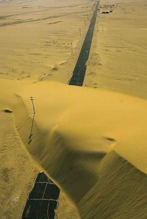 Sand Dune On Highway