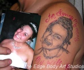 Shitty Portrait tattoo