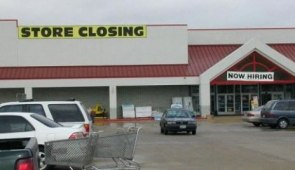 Store Closing / Now Hiring
