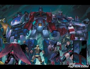 Transformers Meet The Marvel Universe Wallpaper
