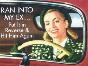 Ran into my ex … put it in reverse & hit him again