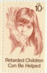 Retarded Children Can Be Helped 10c stamp