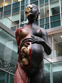 """Virgin Mother"" statue by Damien Hirst"
