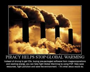 Piracy helps stop global warming