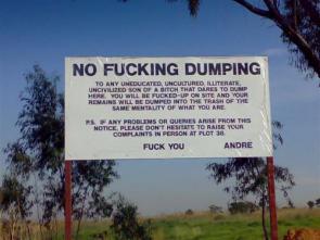 No Fucking Dumping