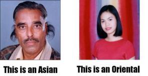 Asian Vs Oriental