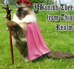 I banish thee from this realm