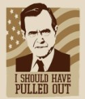 "George Bush says ""I should have pulled out"""