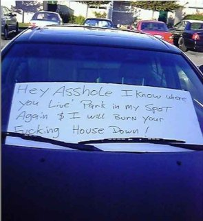 Hey asshole car note