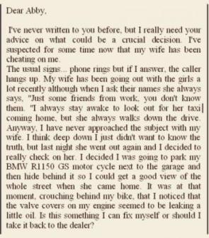 Funny 'Dear Abby' Letter
