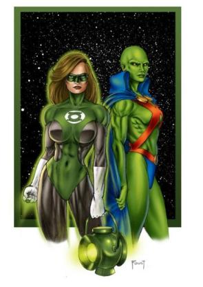 Female Versions of Green Lantern and Martian Manhunter