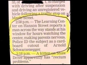 Cardboard cut out terror suspect
