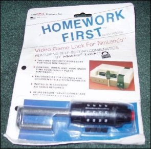 Homework First – Video Game Lock For Nintendo NES