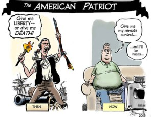 The American Patriot Then And Now