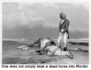 One does not simply beat a dead horse into Mordor