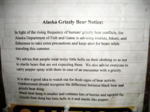 Alaska Grizzly Bear Notice