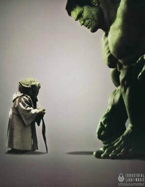 Industrial Light And Magic Advertisement – Yoda Vs Incredible Hulk