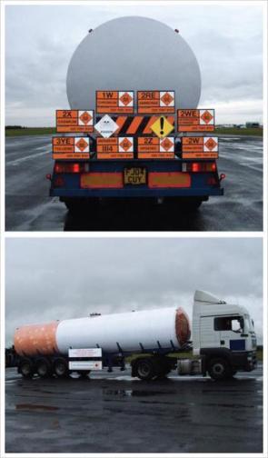 Cigarette hazmat truck