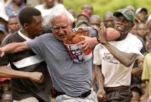 White Man Taking The Black Man's Fried Chicken