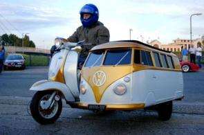 VW Bus sidecar kinda