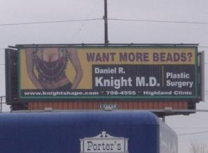 Want More Beads? Plastic Surgery Advertisment