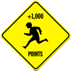 child crossing points sign