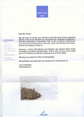 Novotel Hotel Letter