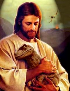 Jesus With Baby Raptor
