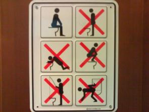 How not to use a toilet?