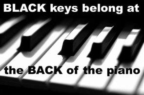 Black Piano Keys