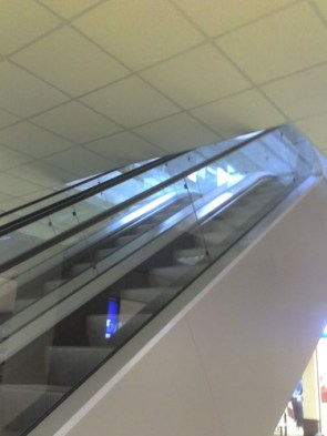 Watch Your Head! (Ceiling Low on Escalator)