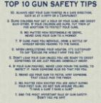 Gun safety tips