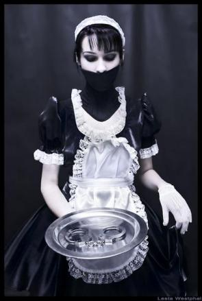 Muted Maid With Handcuffs