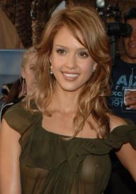 Jessica Alba – See Through Dress (NSFW)