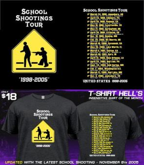 School Shooting tour t-shirt