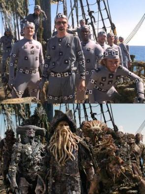 Pirates Motion-Capture Suits