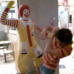 Abusive Ronald McDonald