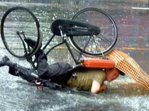 Bike crash sequence…