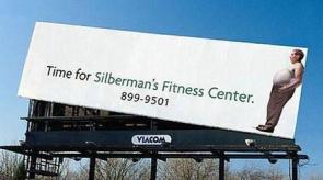 Silberman's Fitness Center Billboard