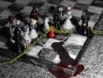 Dead Chess Piece Crime Scene