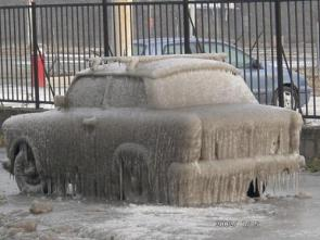 Iced Car Closeup