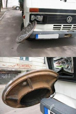 Man Hole Cover In Bus