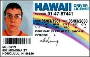 McLovin Driver License