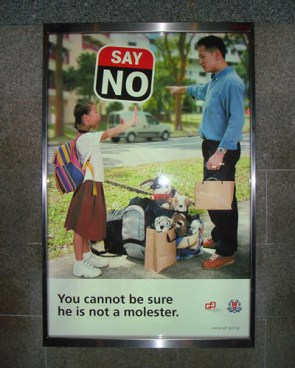 SAY NO – You cannot be sure he is not a molester