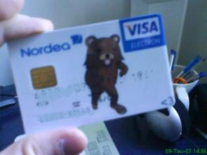 Pedobear Visa Credit Card