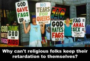 Why can't religious folks keep their retardation to themselves?