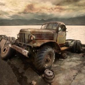 Rusty Truck by lake